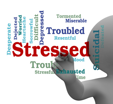stressing: Stressed Word Meaning Pressured Stresses 3d Rendering