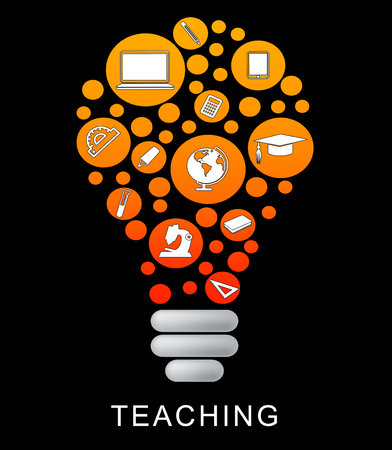 taught: Teaching Lightbulb Showing Power Source And Taught