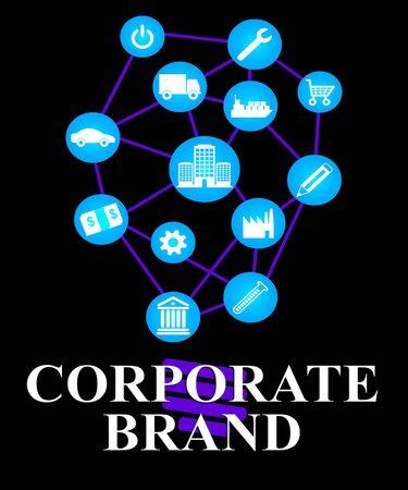 brand identity: Corporate Brand Representing Company Identity And Trademark