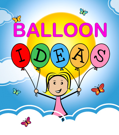 considering: Balloon Ideas Showing Inventions Reflecting And Considering Stock Photo