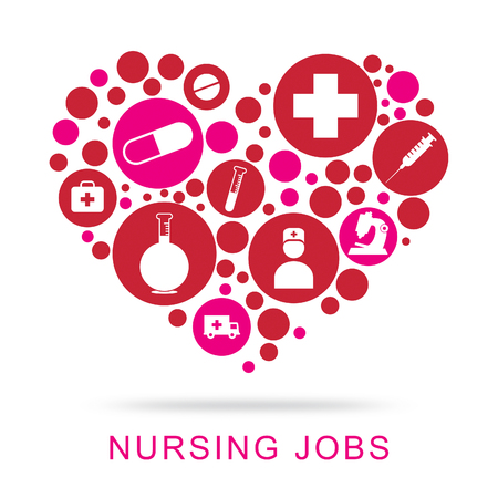 Nursing Jobs Meaning Hire Occupation And Recruitment Stok Fotoğraf