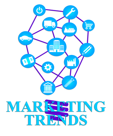 tendency: Marketing Trends Representing Promotions Media And Tendency Stock Photo