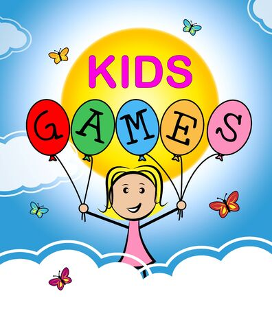 play time: Kids Games Representing Play Time And Playing