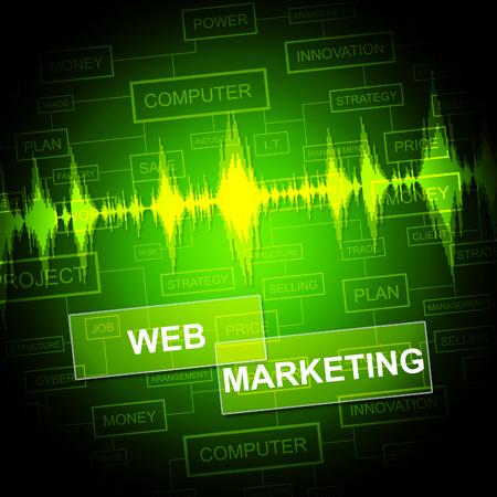 web marketing: Web Marketing Showing Website Sem And Media