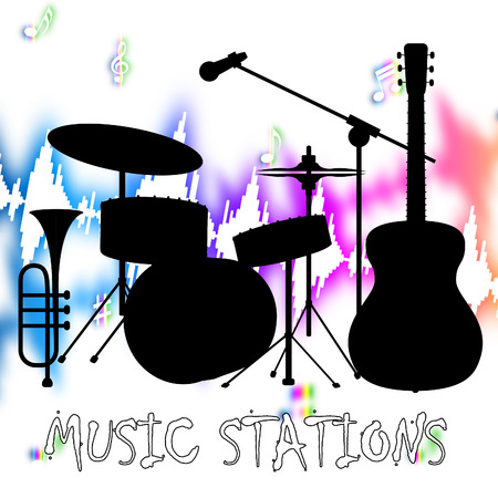 soundtrack: Music Stations Representing Internet Radio And Radiography