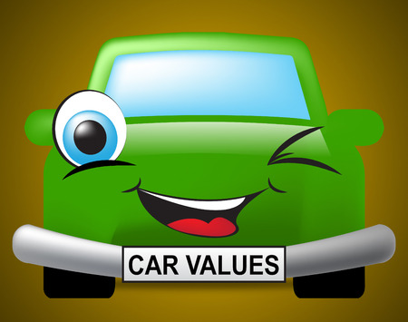 valued: Car Values Meaning Selling Price And Valuations Stock Photo