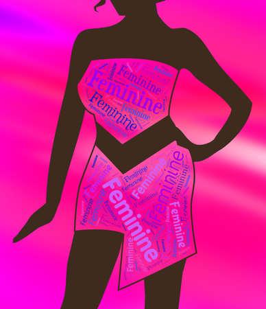 ladylike: Feminine Lady Indicating Gown Style And Ladylike