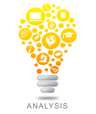 Analysis Lightbulb Showing Investigates Analyze And Investigation Banco de Imagens - 63918867