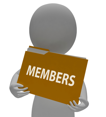 members: Members Folder Showing Join Up 3d Rendering