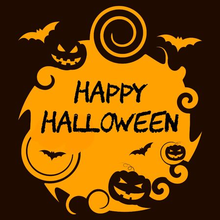 Happy Halloween Showing Trick Or Treat And Horror