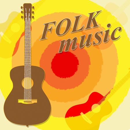 folk music: Folk Music Meaning Country Ballards And Soundtracks Stock Photo