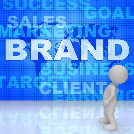 brand identity: Brand Word Indicating Company Identity 3d Rendering Stock Photo