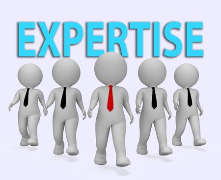 proficient: Expertise Businessmen Representing Master Skills 3d Rendering