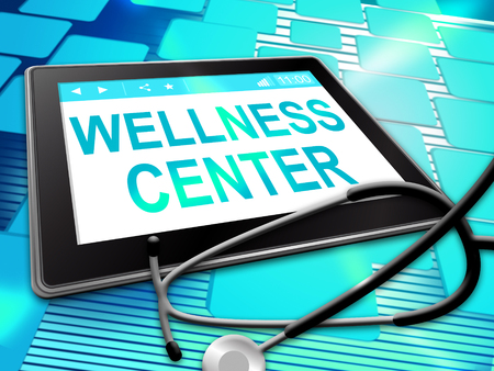 centers: Wellness Center Indicating Health Clinic 3d Illustration Stock Photo