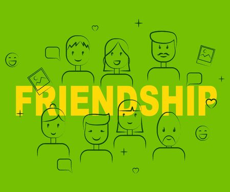 buddies: Friendship People Indicating Friendly Buddies And Togetherness Stock Photo