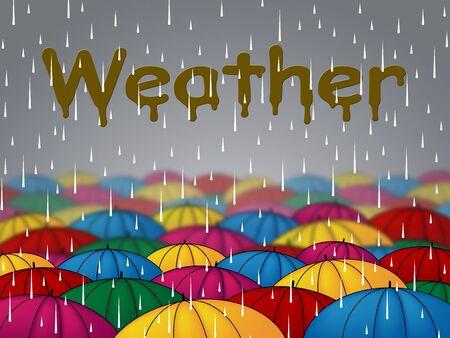 precipitacion: El tiempo de lluvia Indicando Nublado Nublado y precipitaciones