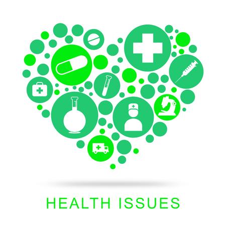 concern: Problemas de salud indicando Bienestar Medicina y preocupación