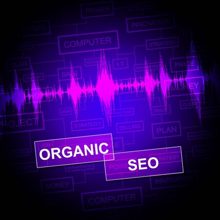 indexing: Organic Seo Indicating Search Engine Website Optimization Stock Photo