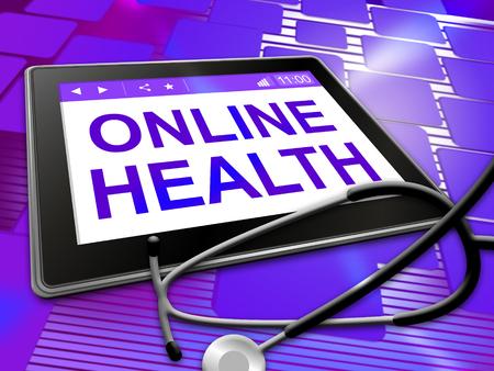 medical illustration: Online Health Showings Medical Wellbeing 3d Illustration