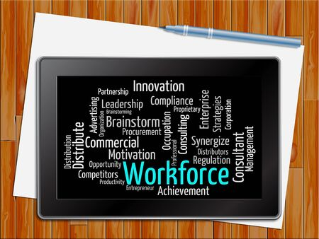 workforce: Workforce Word Showing Human Resources 3d Illustration Stock Photo
