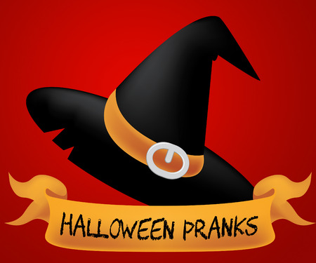 prank: Halloween Pranks Representing Trick Or Treat 3d Illustration Stock Photo