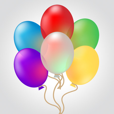 celebrate: Celebrate With Balloons Showing Decoration And Celebration