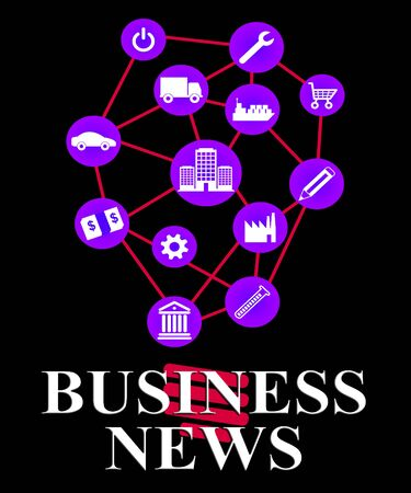 headlines: Business News Meaning Commercial Journalism And Headlines