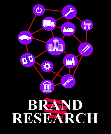Brand Research Indicating Company Identity Study And Analysis Stock Photo