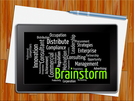brainstorm: Brainstorm Word Indicating Deliberate Plans 3d Illustration