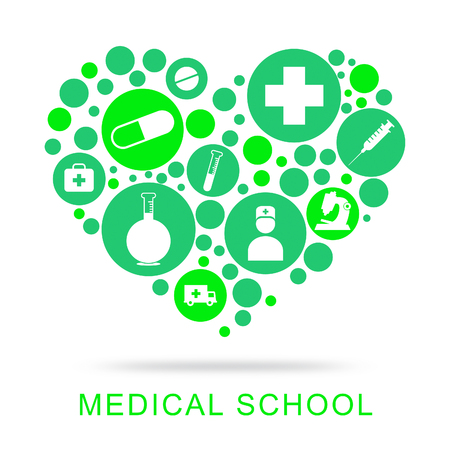 medical school: Medical School Represents University Learning And Education Stock Photo