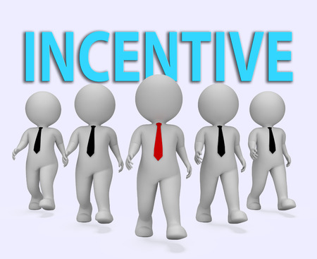 induce: Incentive Businessmen Representing Induce Rewards 3d Rendering Stock Photo