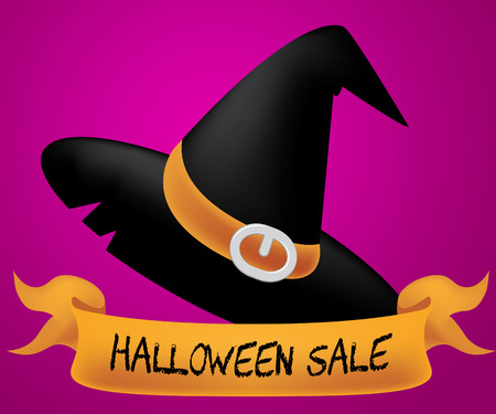 Halloween Sale Indicating Trick Or Treat 3d Illustration