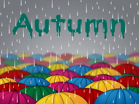 precipitation: Autumn Rain Representing Fall Downpour And Showers Stock Photo