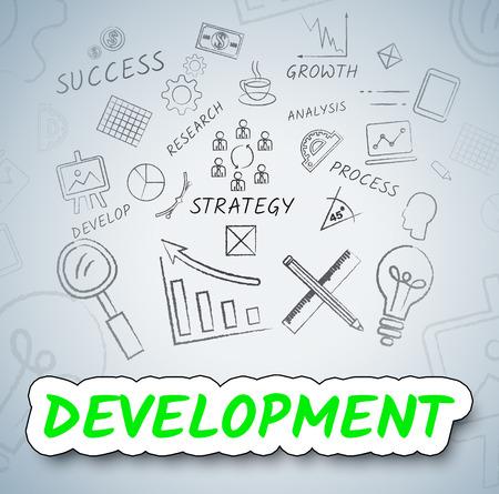 regeneration: Development Icons Meaning Growth Progress And Evolution
