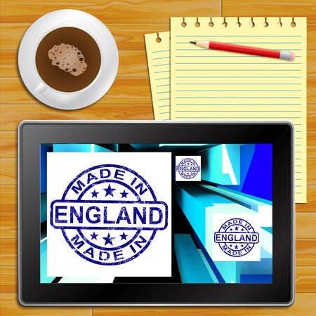 made manufacture manufactured: Made In England Product English Manufacturing 3d Illustration