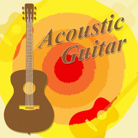 rock guitarist: Acoustic Guitar Showing Rock Guitarist And Music Stock Photo