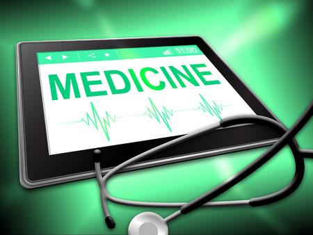 indicating: Medicine Tablet Indicating Medication Online 3d Illustration