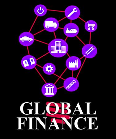 ganancias: Finanzas Global Significado Worldwide Comercio y ganancias Foto de archivo
