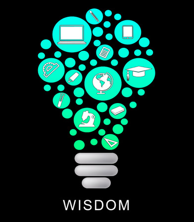 Wisdom Lightbulb Indicating Educational Graduation And Intellect Stock Photo