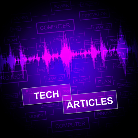 articles: Tech Articles Meaning Technology Publication And Journalism Stock Photo