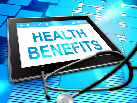 perks: Health Benefits Representing Medical Perks 3d Illustration