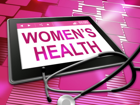 Women's health: Womens Health Showing Female Care 3d Illustration