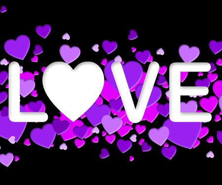 Love Word Meaning Romance Loving 3d Illustration