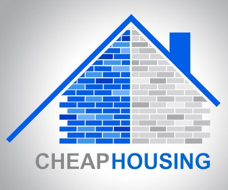 discounted: Cheap Housing Representing Low Cost Discounted Property