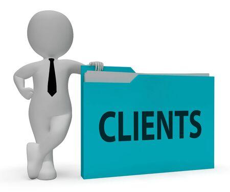 shopper: Clients Folder Represent Shopper Buyers 3d Rendering