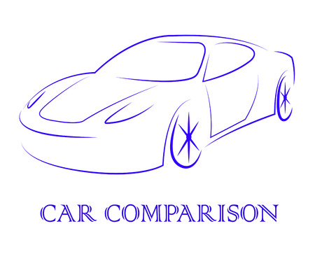 reviews: Car Comparison Showing Auto Reviews And Search Stock Photo