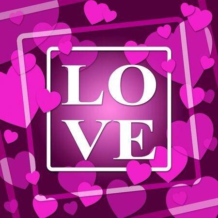 Love Hearts Representing Compassion Fondness And Devotion
