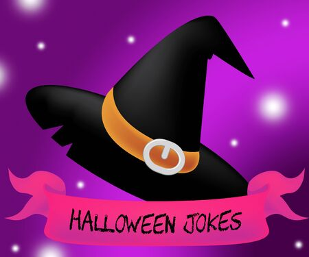haunting: Halloween Jokes And Funny Haunted Gags 3d Illustration Stock Photo