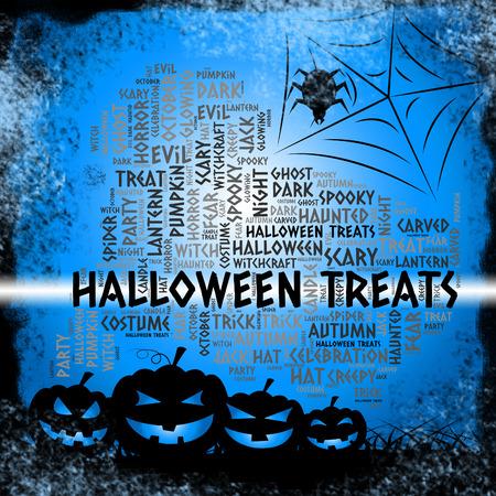 treats: Spooky Halloween trata Significado lujos y Caramelos