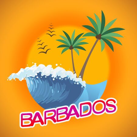 time off: Barbados Vacation Indicating Caribbean Holiday And Vacations